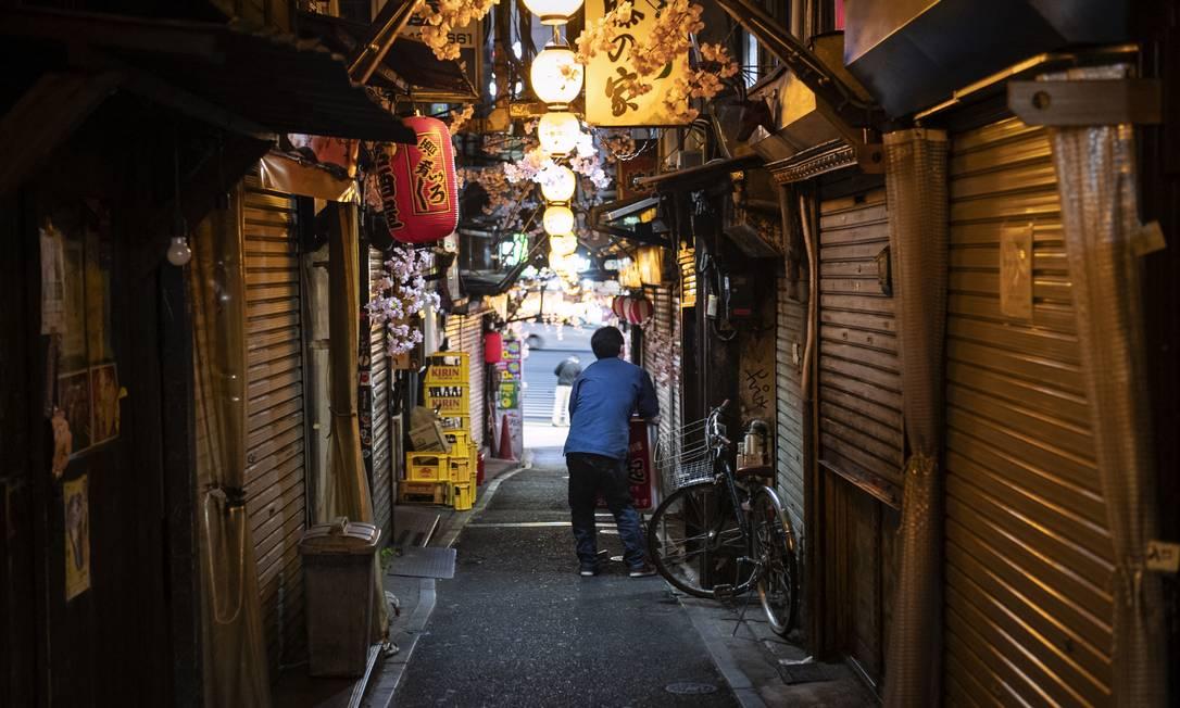 Sem a presença de turistas estrangeiros, Tóquio vai ter um evento com pouco lucro para o comércio local. Foto: Yusuke Harada / NurPhoto / AFP