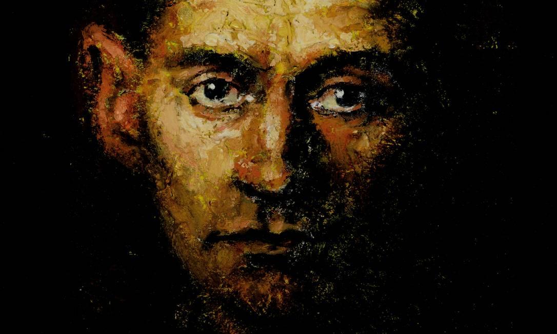 """""""Franz Kafka"""", 1992 (óleo e areia sobre tela), por Ian Hughes. Foto: Bridgeman Images"""