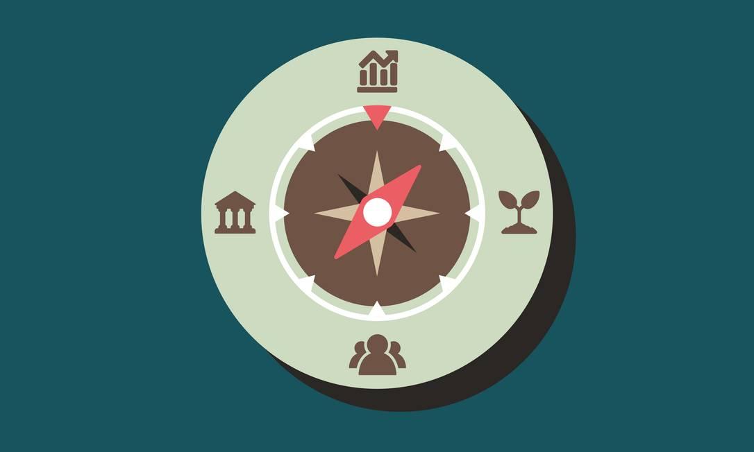"""O ESG — sigla em inglês para a nova agenda ambiental, social e de governança corporativa — está se impondo como o """"novo normal"""" do universo corporativo. A ambição é criar um ambiente de negócios inclusivo e sustentável. Foto: Ilustração de Angelo Bottino"""