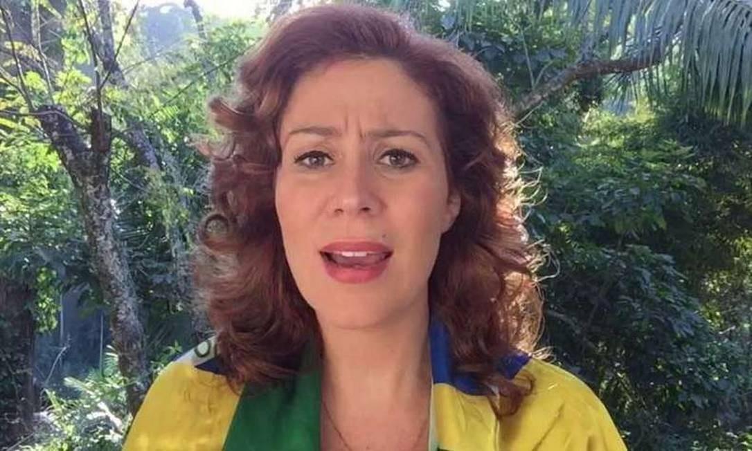 A deputada Carla Zambelli Foto: Reprodução