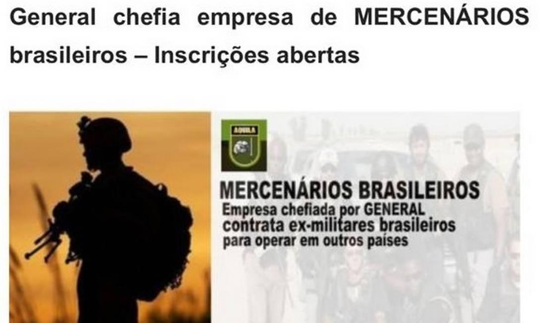 General é dono da Áquila International Foto: Reprodução