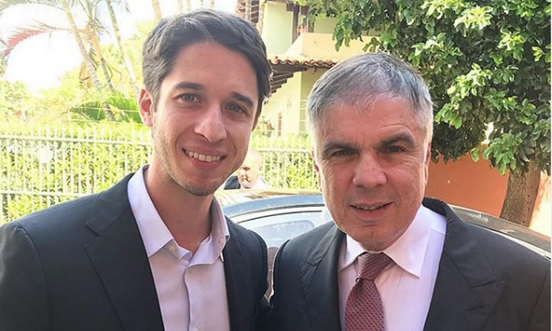 Sobrinho e sucessor de Rocha, Gabriel Kanner (esquerda) irá ao STF em prol do governo Foto: Reprodução