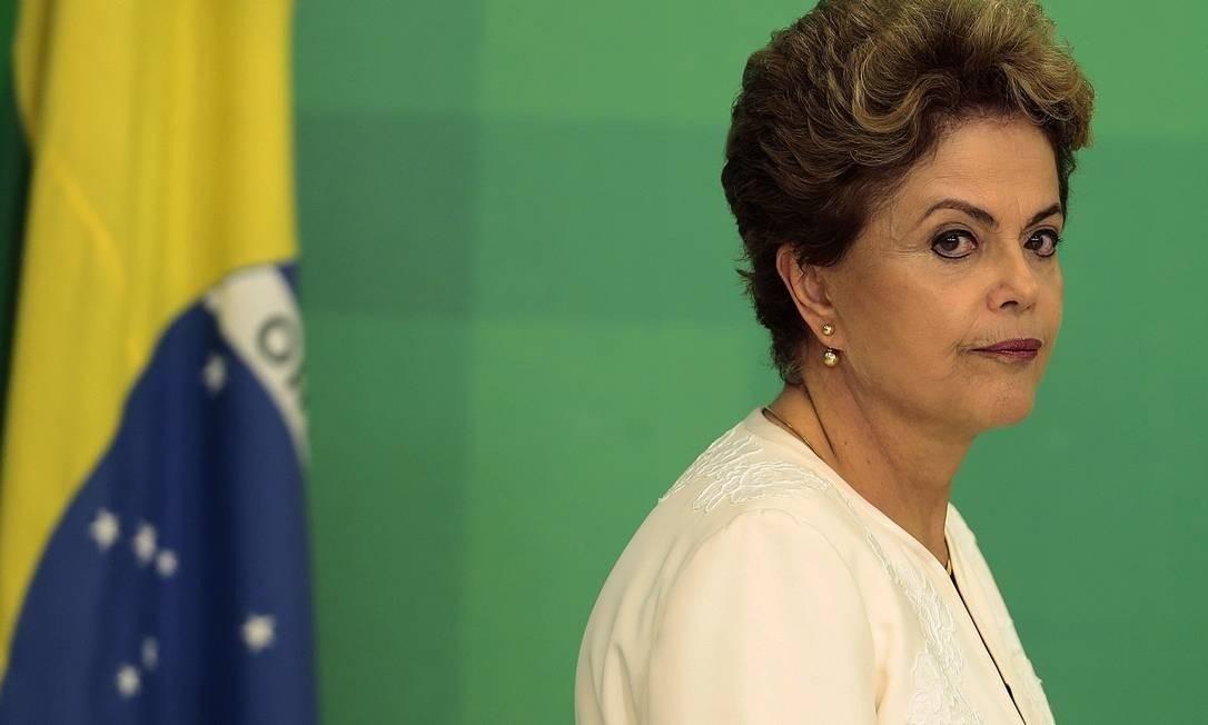 A ex-presidente Dilma Rousseff foi alvo de grampo em 2016 Foto: Jorge William / Arquivo O Globo