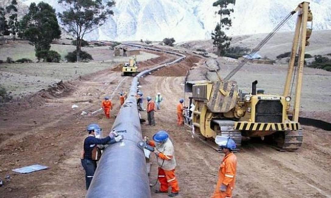 Gasoduto no Peru: uma das obras sobre as quais não constavam relatos na delação Foto: El Comércio/ Peru
