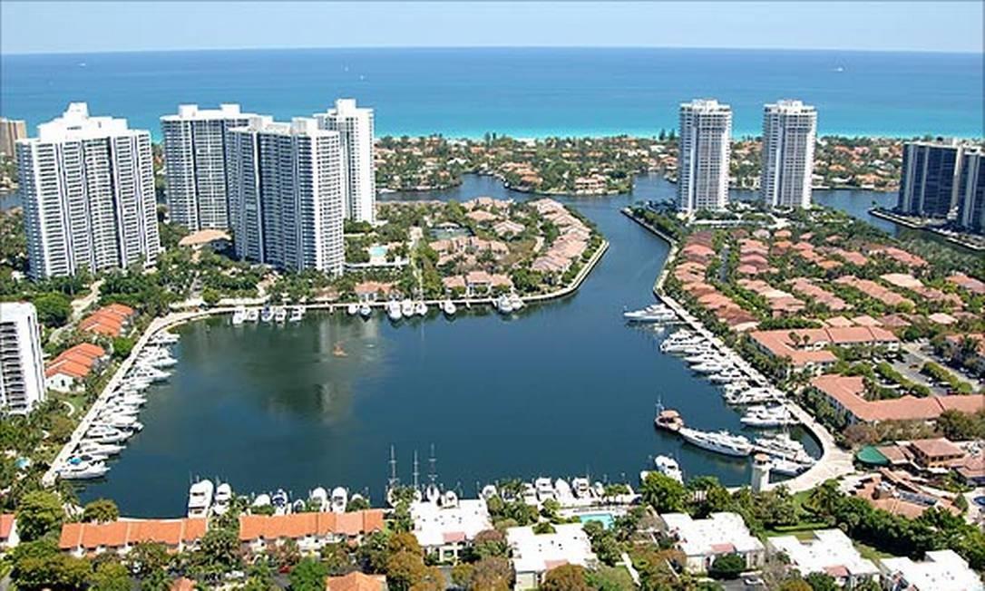 Praia de Aventura, em Miami Foto: Divulgação