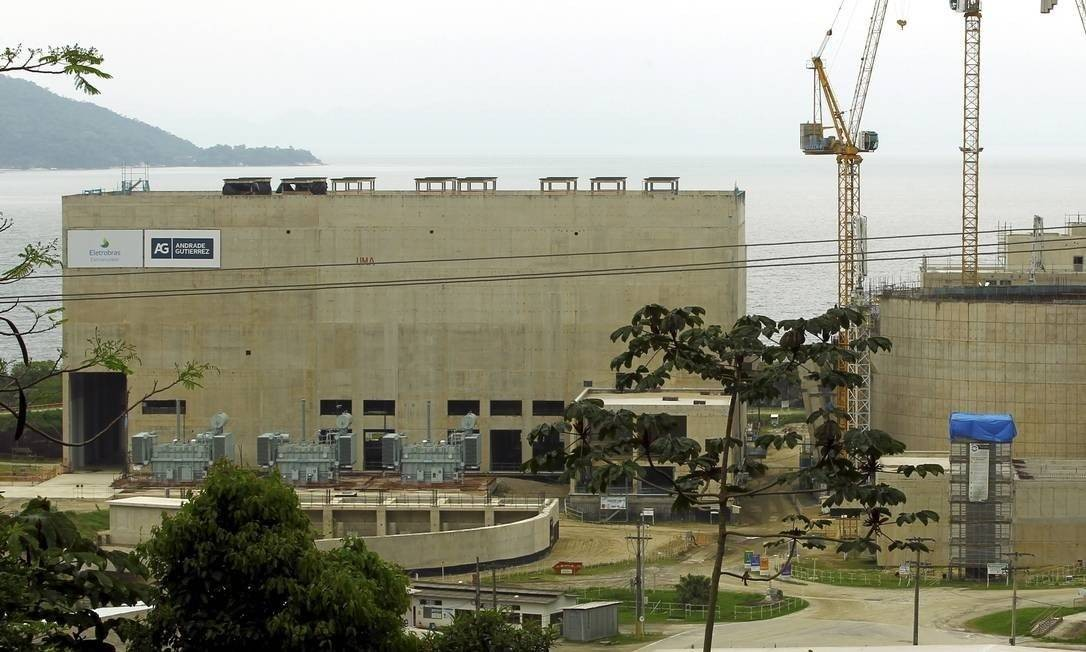 Obras da Usina Nuclear Angra 3 Foto: Gabriel de Paiva/Agência O Globo