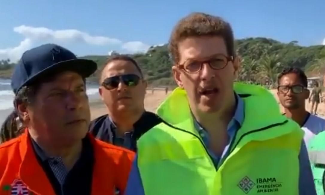 Ricardo Salles e o prefeito Lula Cabral, acusado de desviar R$ 92,5 milhões do município Foto: Reprodução
