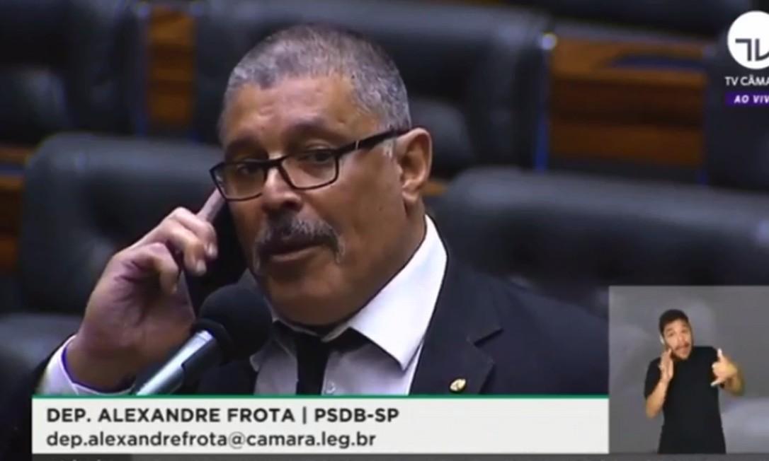 Deputado Alexandre Frota (PSDB-SP), ex-aliado fiel de Bolsonaro Foto: Reprodução