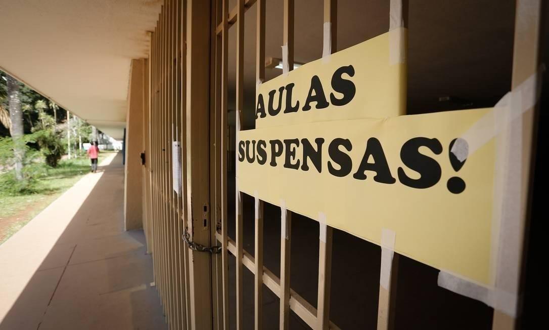 Escola em Brasília fechada por causa da pandemia Foto: Pablo Jacob/Agência O Globo
