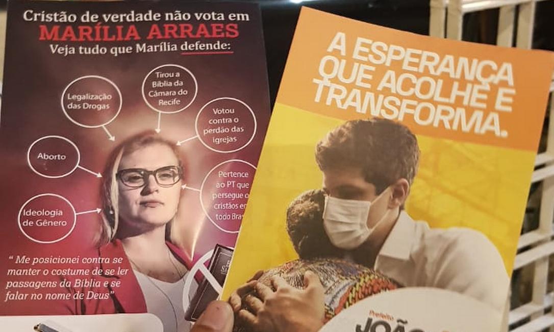 Panfletos apócrifos contra Marília Arraes Foto: Autor desconhecido