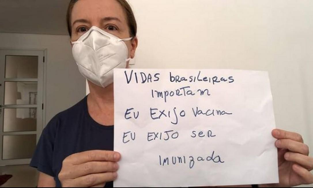 Campanha reuniu 5 mil fotografias em 24 horas cobrando Bolsonaro por vacinação Foto: Reprodução