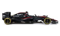 A lateral do carro com a nova pintura Foto: McLaren / Divulgação