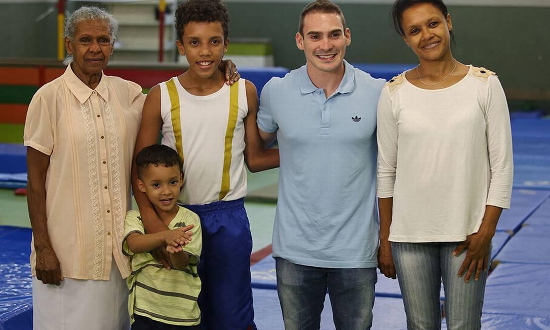 A família de Guilherme também fez questão de registrar o momento Eduardo Viana