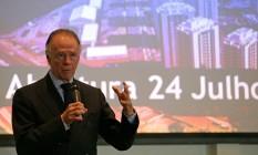 Após reunião com o núcleo da Olimpíada no Palácio do Planalto nesta terça-feira, Nuzman também minimizou os problemas em edifícios da vila Foto: Márcio Alves / Agência O Globo