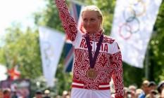 A ciclista russa Olga Zabeinskaya, medalhista de bronze em Londres-2012, é uma das excluídas dos jogos Rio-2016 Foto: Reprodução / Facebook