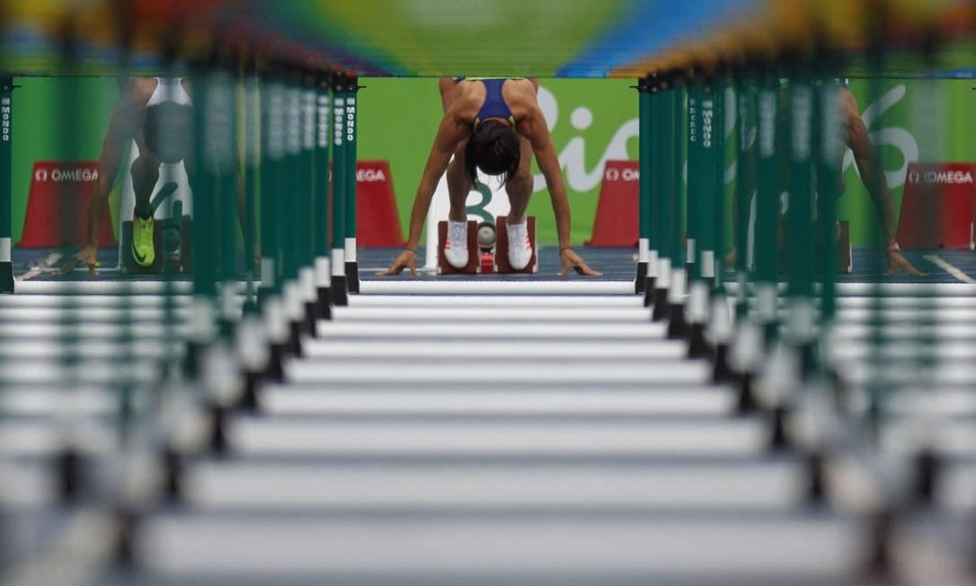 Bateria classificatória dos 100m com barreira feminina Daniel Marenco / Agência O Globo