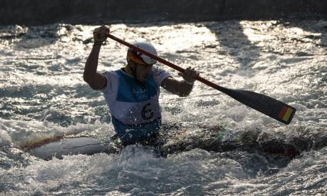 O alemao Sideris Tasiadis na final da canoagem individual Foto: Daniel Marenco / Agência O Globo