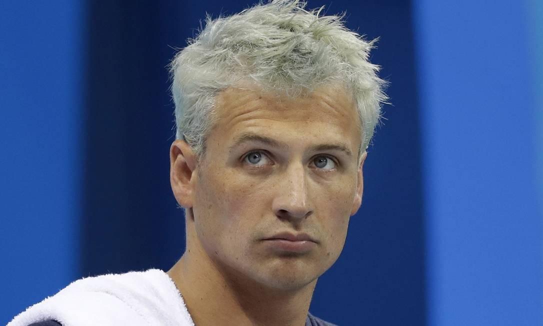 Ryan Lochte após prova da Olimpíada do Rio Foto: Michael Sohn/AP
