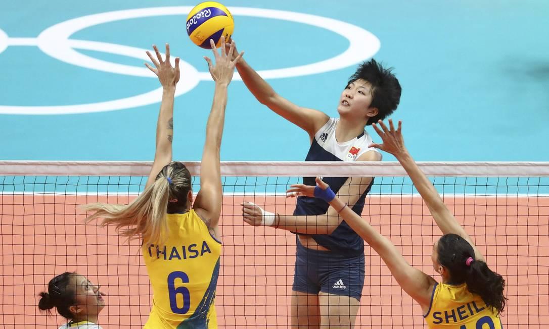 Brasil e China se enfrentaram nas quartas de final do torneio de vôlei dos Jogos do Rio-2016 YVES HERMAN / REUTERS