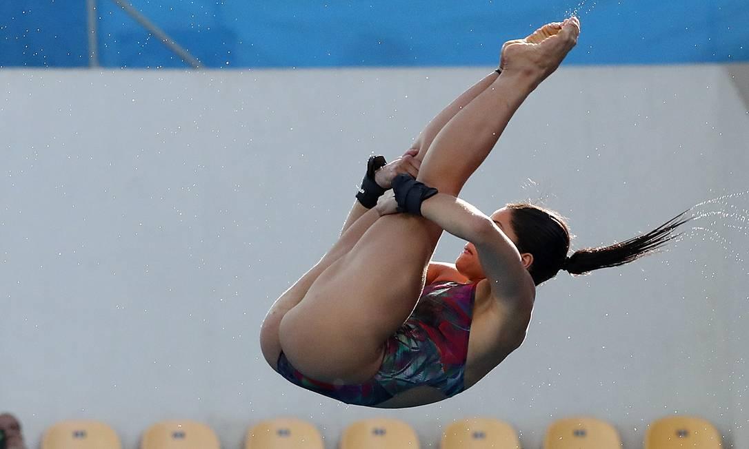 A eliminação na primeira fase da plataforma de 10m mexeu com Ingrid Oliveira, que chorou Marcio Fernandes / Estadão