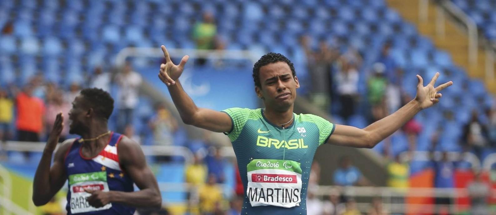 Daniel Martins conquista o terceiro ouro do Brasil na Paralimpíada Foto: REUTERS/Sergio Moraes
