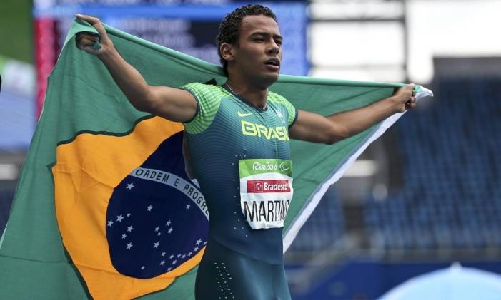 Daniel Martins conquista o terceiro ouro do Brasil na Paralimpíada do Rio Foto: REUTERS/Sergio Moraes