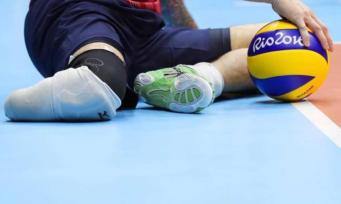 Brasil venceu os EUA no vôlei sentado, nesta sexta-feira, por 3 sets a 0 Mõnica Imbuzeiro / Agência O Globo