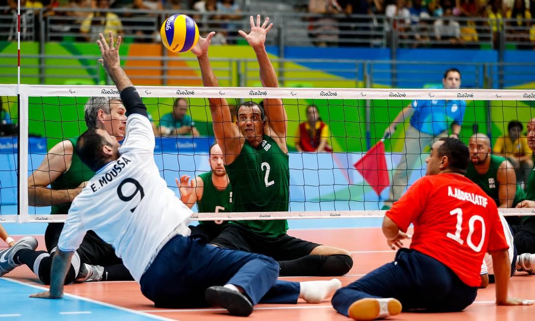 Brasil perdeu para o Egito por 3 a 2, no vôlei sentado, neste domingo Washington Alves/MPIX/CPB / MPIX/CPB