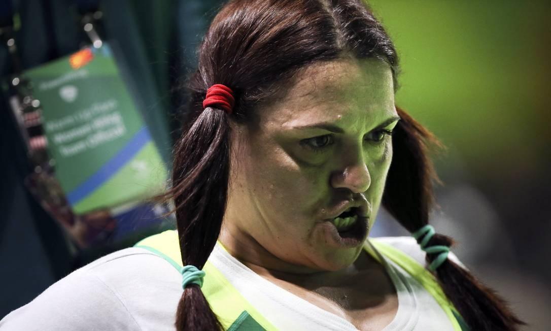 A brasiliera Marcia Menezes, do levantamento de peso feminino até 86k Foto: Monica Imbuzeiro / Agência O Globo