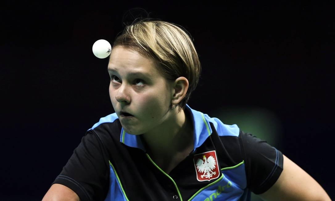 A polonesa Karolina Pek (foto), do tênis de mesa, derrotou a brasileira Danielle Rauen Monica Imbuzeiro / Agência O Globo