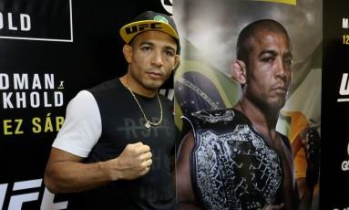 José Aldo, campeão interino do UFC no peso-pena Foto: Guilherme Pinto / Agência O Globo