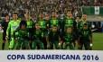 Time da Chapecoense que encarou o San Lorenzo nas semifinais da Copa Sul-Americana Foto: NELSON ALMEIDA / AFP