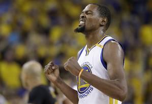 Kevin Durant foi o MVP das finais da NBA Foto: Marcio Jose Sanchez / AP