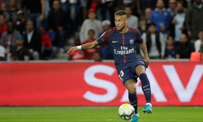 Neymar Durante Partida Contra O Tolouse Thomas Samson Afp