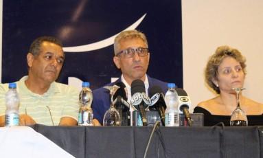 Alexandre Campello, novo presidente do Vasco, ao lado de Sônia Maria Andrade, 2ª vice-presidente do Vasco Foto: Vasco/Divulgação