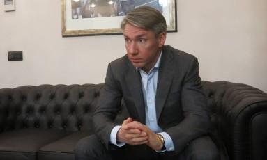 Alexey Sorokin, presidente do Comitê Organizador da Copa de 2018 Foto: Bernardo Mello / Agência O Globo
