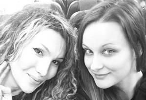 Tiffany e Monica Lestini, jogadoras de vôlei, nos tempos de Itália Foto: Reprodução/Instagram / Reprodução