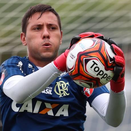 Goleiro Diego Alves no treino do Flamengo Foto: Gilvan de Souza / Flamengo/Divulgação