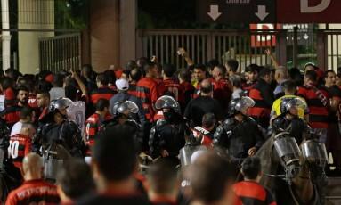 Jogo entre Flamengo e Independiente no Maracanã, válido pela final da Copa Sul-Americana. Foto: Márcio Alves / Agência O Globo