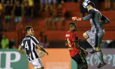 Gatito foi o nome da partida contra o Sport, na Ilha do Retiro. Foto: Carlos Ezequiel Vannoni / /Eleven