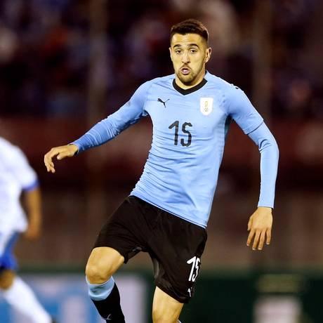 Matías Vecino é um dos mais jovens jogadores da experiente seleção uruguaia Foto: ANDRES STAPFF / REUTERS