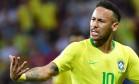 Neymar durante a derrota brasileira por 2 a 1 para a Bélgica Foto: LUIS ACOSTA / AFP