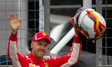 Vettel fez a melhor marca da história do circuito de Hockenheim, neste sábado Foto: Wolfgang Rattay / Reuters