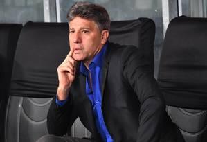 Renato Gaúcho é sonho antigo do Flamengo Foto: NELSON ALMEIDA / AFP