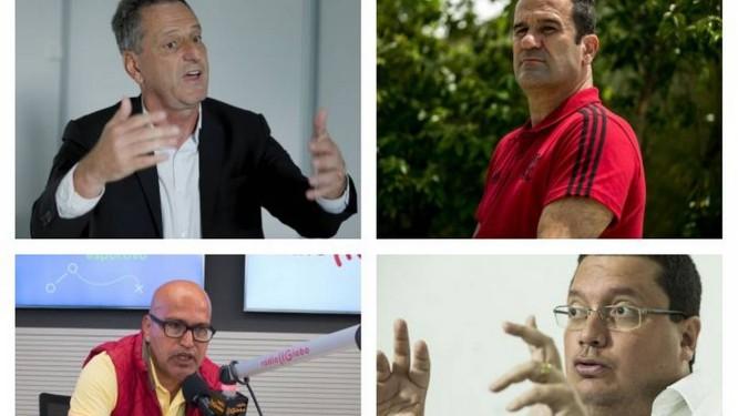 Landim, Lomba, Peruano e Vargas concorrem Foto: Agencia O Globo