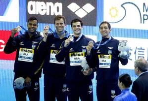 Em dezembro, o Brasil conquistou oito medalhas no Mundial de piscina curta Foto: Satiro Sodré/ / Divulgação CBDA