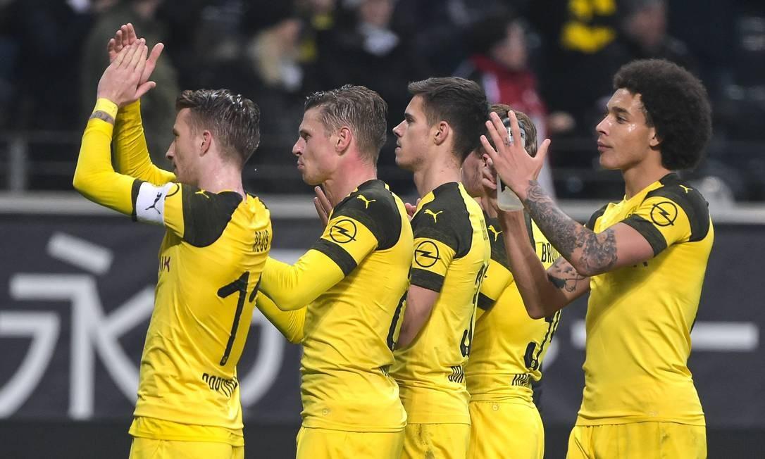 Borussia Dortmund entra em campo no próximo sábado Foto: SILAS STEIN / AFP