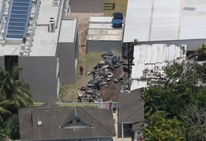 Foto aérea do local do incêndio que deixou dez vítimas fatais. Foto: SERGIO MORAES / REUTERS