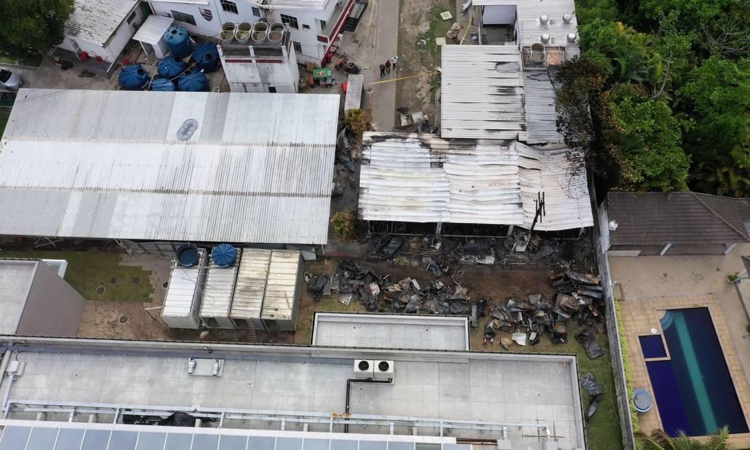 Contêiner usado pela base do Flamengo: isolante térmico poderia ser outro Foto: MARIE HOSPITAL / AFP