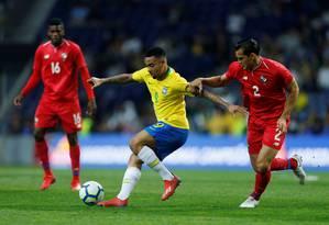 Gabriel Jesus no empate sem gols do Brasil com o Panamá Foto: PEDRO NUNES / REUTERS